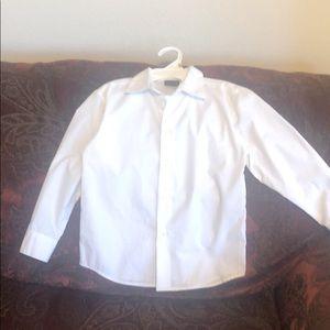 Boy's solid white dress shirt